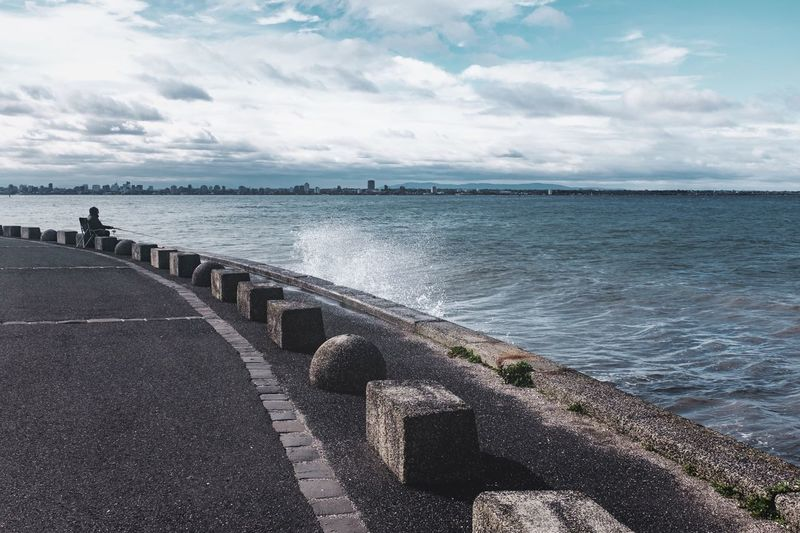 Sea Water Day Cloud - Sky Sky Nature Tranquil Scene Tranquility Scenics Horizon Over Water Outdoors Beauty In Nature Groyne No People The Week On EyeEm
