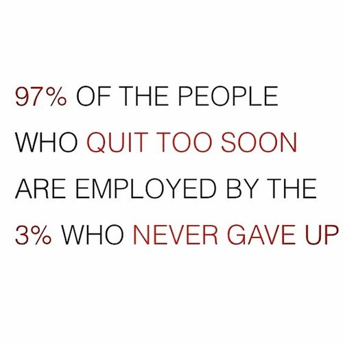 Never quit! Motivation Determination Success Entrepreneur Forbes