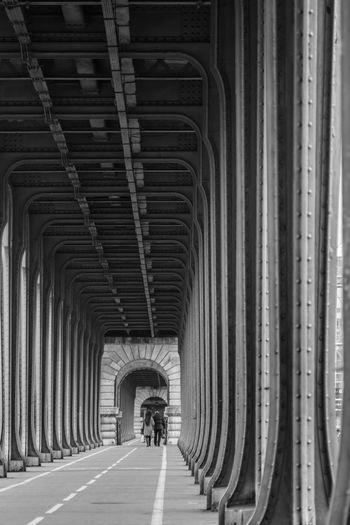 pont de Bir-Hakeim Black & White Paris Travel Arch Architectural Column Architecture Bridge - Man Made Structure Corridor Diminishing Perspective Direction Pont De Bir-hakeim The Way Forward Travel Destinations
