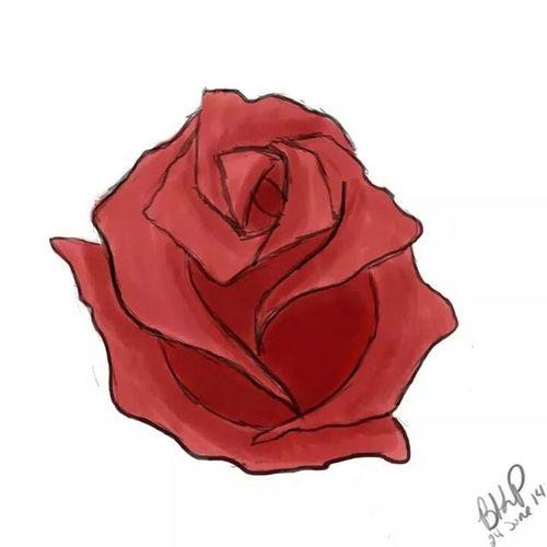 AISummer2014 Rosé Digitalpainting Flower red art artwork challenge photoshop