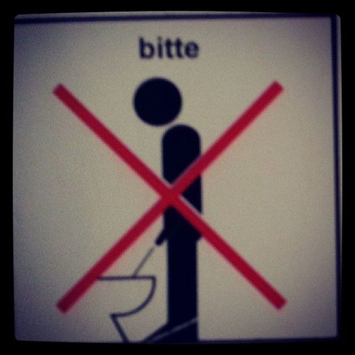 This picture is on Myunclestoilet . I guess Germanmen sit when the Pee .