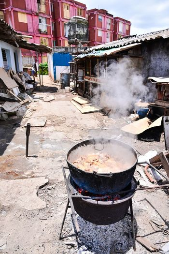 Preparation  Built Structure Smoke - Physical Structure Building Exterior Architecture Outdoors Day No People Heat - Temperature Food Stove Camping Stove Cuba Santa Clara Santa Clara Cuba