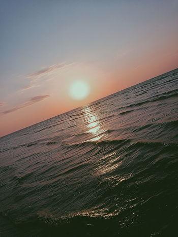 Water Sunset Seasunset Seasky Sunset Sun Cold Temperature Sky