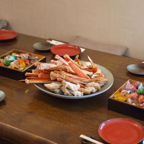 ようやく正月らしくなりました。 Food お節料理 蟹