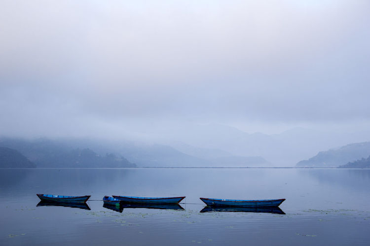 Fog Lake Nature Outdoors Phewa Lake Pokhara! Tranquil Scene Tranquility Transportation Water Fresh On Market 2017
