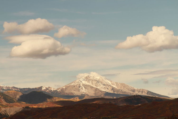 Scenic View Of Mt Sopris Against Sky During Winter