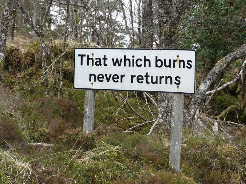 Spooky Road Sign Bridge Of Orchy Scotland Witch Horror Becareful