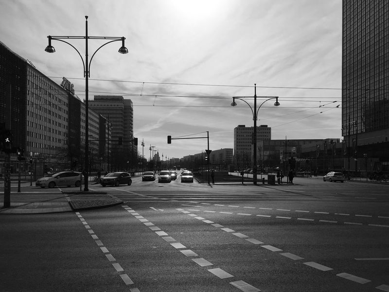 Urban Geometry Urban Landscape Black And White Photography Black And White Architecture Cityscapes Cars Intersection Crossing Crossing The Street Crosswalk Street_lights