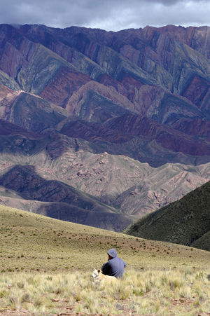 Andes Man Adult Adults Only Argentina Beauty In Nature Day Hiking Hornocal Humahuaca Landscape Men Mountain Mountain Range Nature One Person Outdoors People Real People Scenics Sky Women