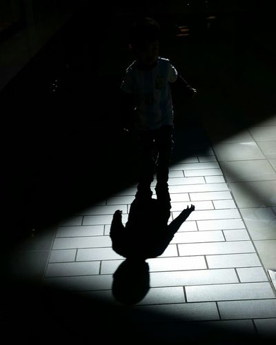 Light And Shadow Silhouette Perfect Lighting Imagination Creative Photography Kid Kids Being Kids