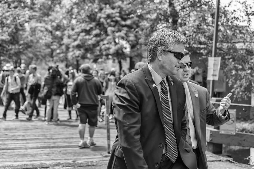Blackandwhite ISpy  Law Enforcement Political Presidential Election 2016 Protection Secret Service Streetphotography