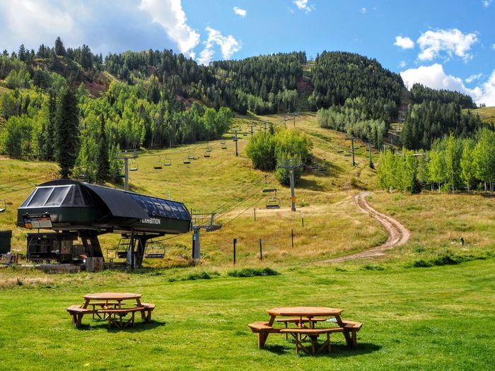 Landscape No People Nature Outdoors Blue Sky Mountain Colorado Rocky Mountains Chair Lift Vacation Ski Resort  Fall The Week On EyeEm