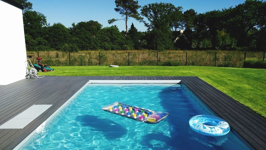 Swimming Pool Tree Water Summer Outdoors Vacations People Leisure Activity High Angle View Nature Sky No People Tranquility Bretagne Live For The Story The Great Outdoors - 2017 EyeEm Awards