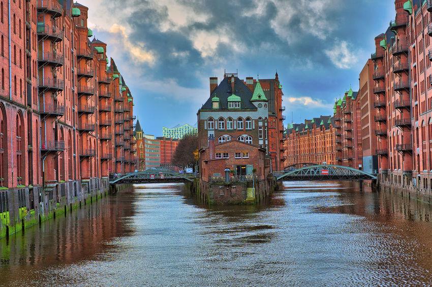 Hamburg Architecture Building Exterior Built Structure City Elbe River Water