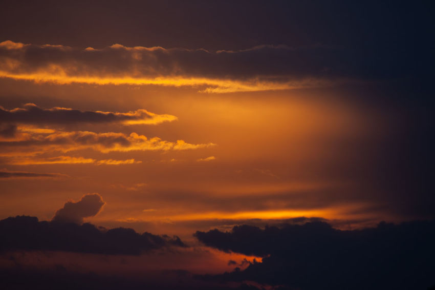 Beauty In Nature Cloud - Sky Day Dramatic Sky Idyllic Nature No People Orange Color Outdoors Scenics Silhouette Sky Sunset Tranquil Scene Tranquility