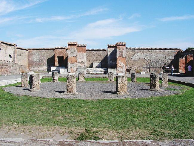 Tourist Archeology Archeological Complex Pompeii
