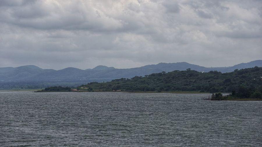 Lamtakhong Dam Mountain Sky Cloud - Sky Scenics - Nature Beauty In Nature Water Tranquil Scene Waterfront Lake Mountain Range