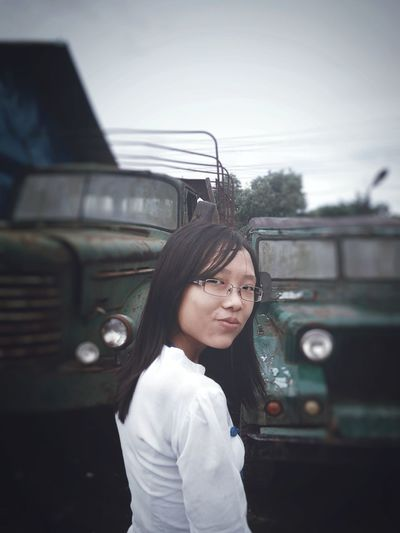 Portrait Black Hair Young Adult One Person Standing Car Eyeglasses  Casual Clothing Outdoors Streetpotrait Beautiful ♥ Fair
