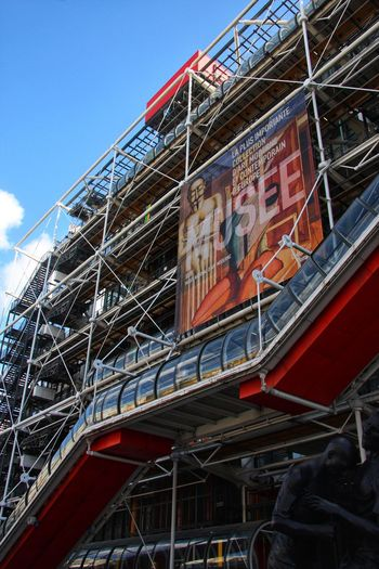 Pompidou museum French Architecture Architecture Pompidou Museum Paris Pompidou Museum Architecture Built Structure Low Angle View Building Exterior Day No People Outdoors
