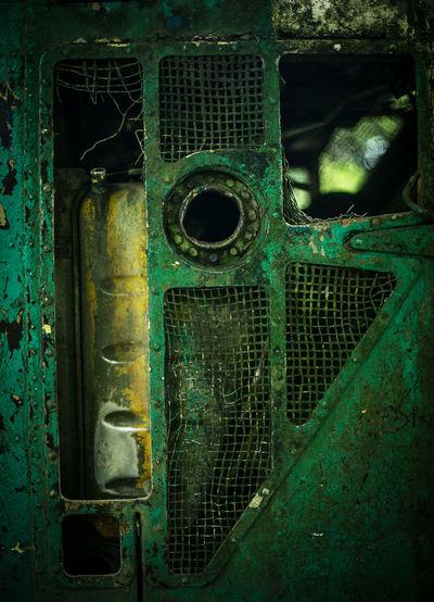 Full frame shot of old metal door