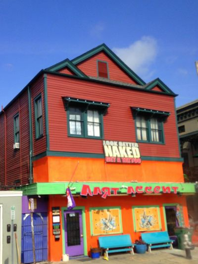 Architecture Building Exterior Built Structure Colourful Colours New Orleans Tattoo Tattoo Shop