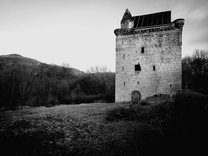 Sauchie Tower Sky Castle Historic Fortress Medieval History Historic Building Ancient The Past Fortified Wall Old Ruin Fort