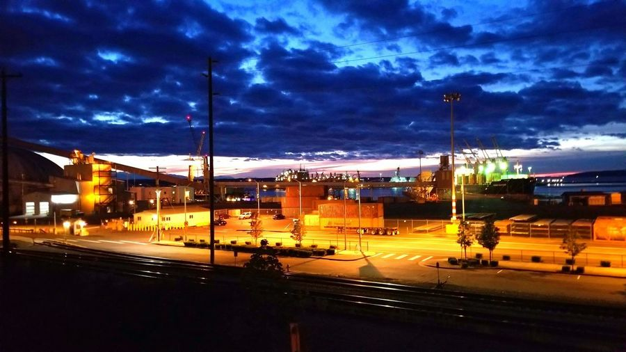 Sunset in Washington state. City