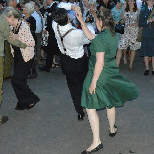 1940s 1940's Weekend Black Country Museum Dancing Swing Braces Living History World War 2 Blitz Spirit 20th Century Dancing In The Street