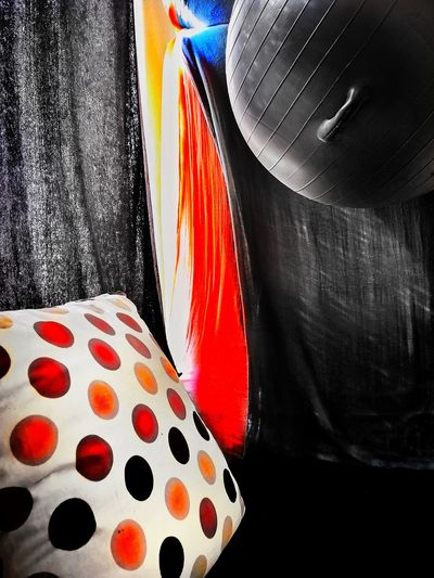 COLOR FORM Ball Pillow Artistic Edited Fun Creativity Monochrome Colour Huaweip20pro Snapseed Close-up Curtain Drapes  Window Sill Textile Velvet