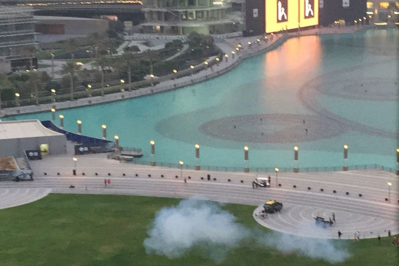 UAE Dubai Iftar Iftartime Today's Hot Look Most Popular Burj Khalifa Beautiful Iftar Shoot Iftar Gun