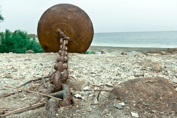 Anchro Ball And Chain Chain Ocean Rocks Salt Saltwater Sea See