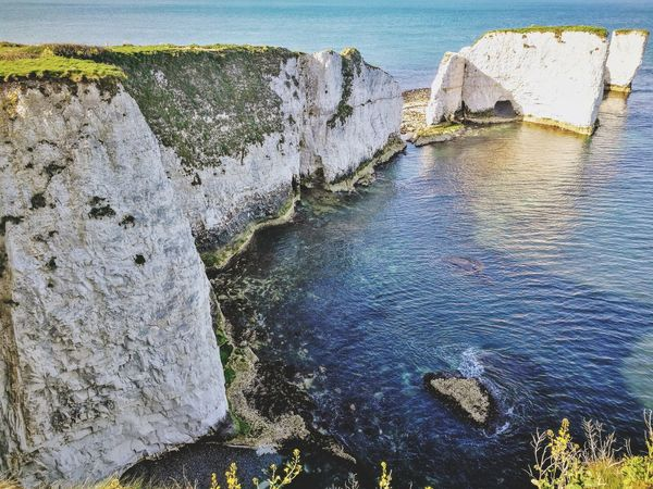 Old Harry's rocks Water Sea Sky Rock Formation Pebble Beach Natural Arch Eroded Geology Physical Geography Sandstone The Great Outdoors - 2018 EyeEm Awards