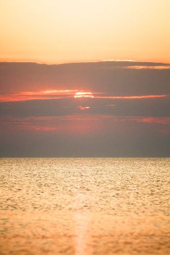 LAST MOMENTS OF LIGHT Nature_collection Nature Eye4photography  Sunset Sky Water Sea Scenics - Nature Beauty In Nature Orange Color Tranquility Horizon Over Water Nature Idyllic Sun Sunlight Outdoors Environment