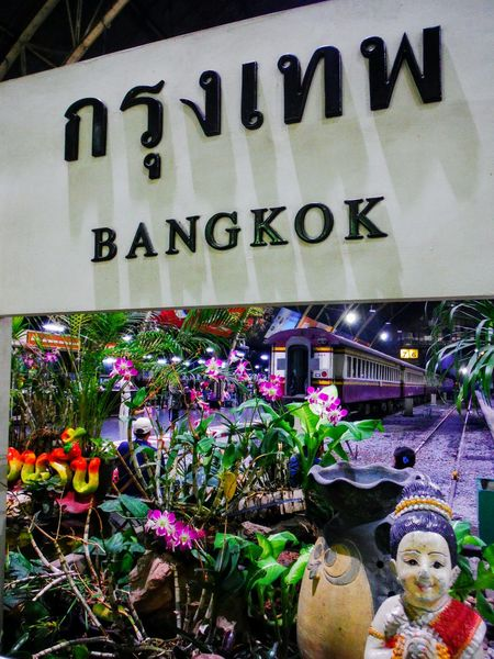 Train Station in BKK Train Station Train Station Thailand Train Station Platform Signboard Sign Bkk Thailand Bangkok Bangkok Thailand Bangkok Train Station Travel Thailand Transportation Travel Asia Explore Asia Explore Travel Adventure Awaits Train