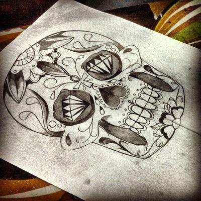 Caveira mexicana !!! Arte tattoo By  JuniorBK