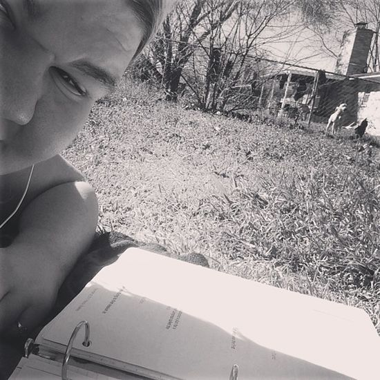 Doing school work tanning & listening to a dog bark. IM LIVING THE LIFE. NOT. Dog Annoying Shithead Fuckoff living the life lol homework school work killme can i drop out please lol tanning though :)