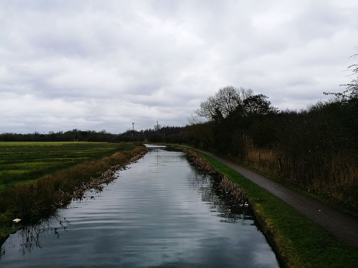 Canal Water Water Tributary Canal Placid Photograph Of Canal Power Line  Popular Photos Check This Out Cycle Trail Pedestrian Walkway Pedestrian Walkway By Canal