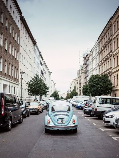 Car Built Structure Building Exterior City Berlin VW Käfer VW Beetle Old Oldtimer Streetshot Streets Of Berlin Berlin Mitte Altbau Old Buildings Road Outdoors No People Lines Mode Of Transport