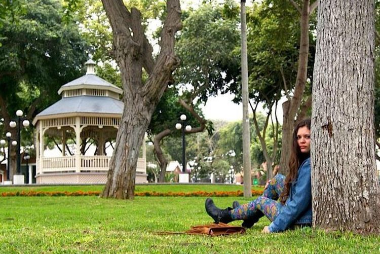2013 Tree Full Length Relaxation Smiling Only Women Casual Clothing Grass Long Hair Adult People One Person Happiness Day Beautiful People Outdoors One Woman Only Cheerful Beauty Beautiful Woman EyeEmNewHere