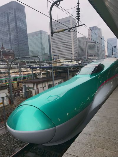 Platform Tokyostation SuperExpress Hayabusa Bullet Train Mode Of Transport Transportation