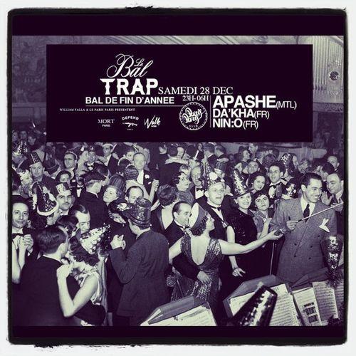 Parisparisclub Baltrap Defendparis Mortparis samedi 28 décembre la soirée Trap de l'année !