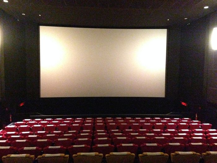 Arts Culture And Entertainment Auditorium Cinema Film Industry In A Row Indoors  MOVIE Nightlife No People Projection Screen Seat Stage - Performance Space Theater