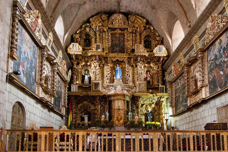 Facade of church