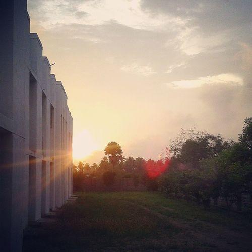 5mp Click. An evening snap from @Kalaivani College.