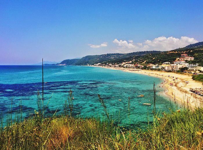 Landscape Vrachos Vrachos Beach Loutsa Loutsa Beach Greece Summer Sea Sea And Sky Seaside Sky Aegean Sea Aegean Parga Epirus Epirus, Greece Sunny Day Travel Blue Blue Water Blue Sky