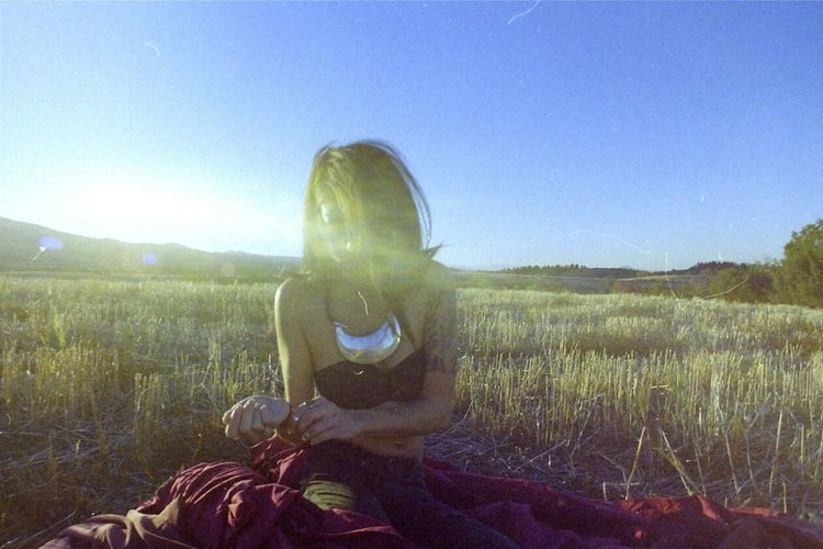 35mm Film Filmisnotdead Film Photography Zenit Expired Film Color Woman Field
