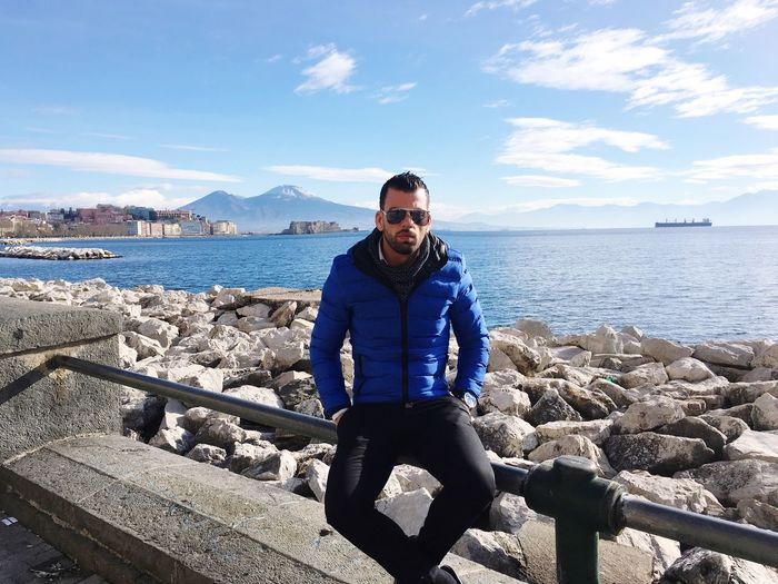 Napoli ❤ Day Afternoon That's Me City Italy Napoli La Più Bella Del Mondo Lovelovelove City Life Relaxing Hello World Relax Looking At Camera Full Length Men Lifestyle No Filter