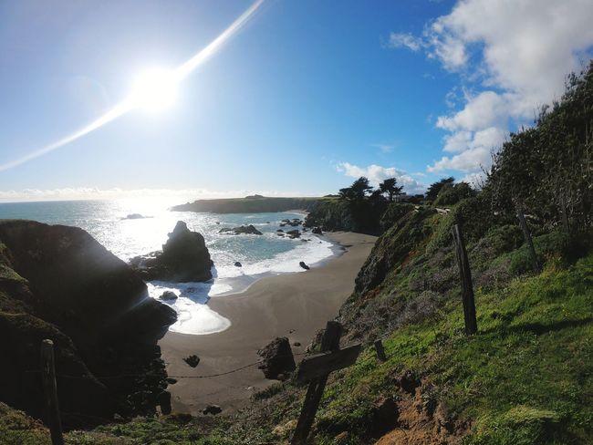 hidden beaches Fence Fencepost California Sunlight Sun Atmospheric Mood Water Beach Sky Horizon Over Water Coast Seascape Tranquil Scene Rocky Coastline Tranquility Shore Ocean Calm Dramatic Sky Coastline