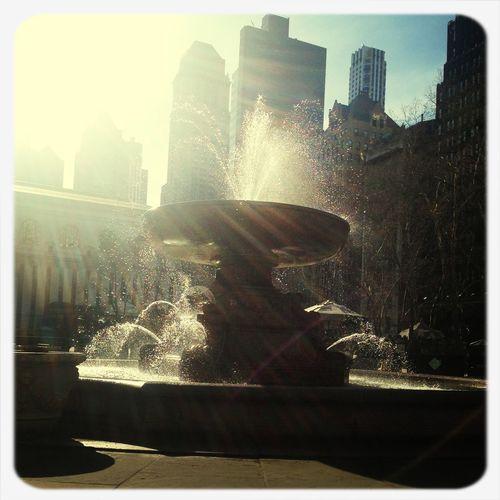 Soaking Up The Sun At Bryant Park New York Springfeeling