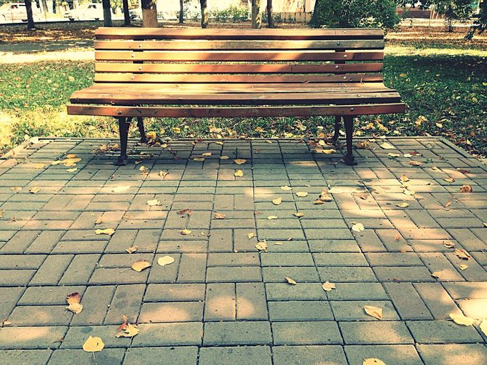 No People Park Bench Bench